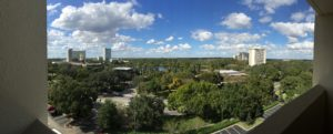 The view from our hotel in Disney area (Holiday Inn).