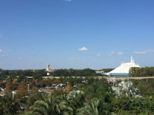 View of Magic Kingdom from Contemporary resort.